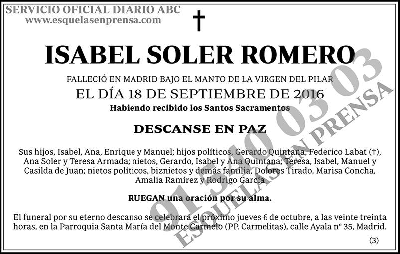 Isabel Soler Romero